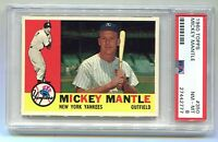 1960 Topps Mickey Mantle #350 PSA 8 NM-MT (Vibrant Colors & Dead Centered)