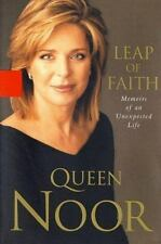 Leap of Faith Memoirs of an Unexpected Life Queen Noor Good Book Hardcover