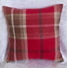 "Handmade Porter & Stone Balmoral  Cushion Cover. Red or Amethyst 14"" 16"" 18"" +"