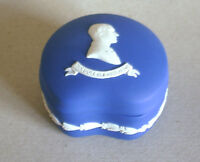 Wedgwood Jasperware Royal Blue Duke Bean Trinket Box