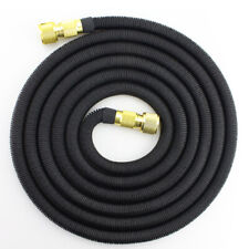 Black 25 Feet Expandable Flexible Garden Water Hose Brass Retractable Watering