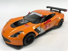 """New Kinsmart 5"""" Chevy Chevrolet Corvette C7 R Diecast Model Toy Car 1:36 Orange"""