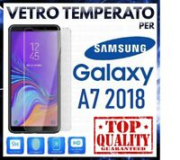 Pellicola in VETRO TEMPERATO per SAMSUNG GALAXY A7 2018 Proteggi Schermo A750F