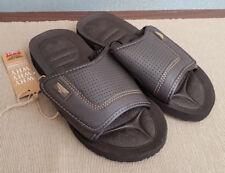 BNWT Mens Rivers Size 10 Brown Slides Flip Flops Sandals Beach Casual Shoes