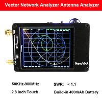 """Nanovna 50KHz-900MHz Vector Network Analyzer VNA UHF VHF HF UV Antenna 2.8"""" TFT"""