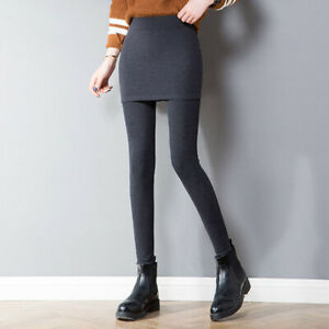 Sexy High Waist Slim Leggings Womens Pants Skinny Pencil With Skirt Trousers HOT