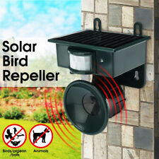Ultrasonic Solar PIR Sensor Repeller Bird Dog Cat Fox Scarer Deterrent Repellent