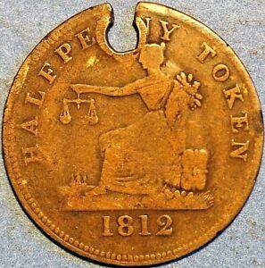 1/2 Penny Thomas Halliday Token Canadian provinces