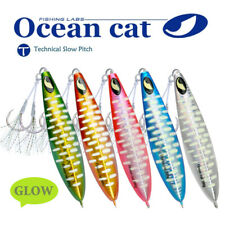 Slow Pitch Fishing Lures Sinking Lead Metal Flat Fall Jig Jigging Bait with Hook