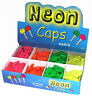 1 - 100 Neon Coloured Key Caps Assorted Top Covers Head  ID Tag Cap Ring Keyring