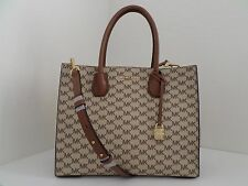 NWT AUTHENTIC MICHAEL KORS STUDIO MERCER SIGNATURE LARGE CONVERTIBLE TOTE-$298