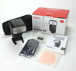Canon Speedlite 600EX-RT Camera Flash Hot Shoe Wireless E-TTL 600EX In Box!