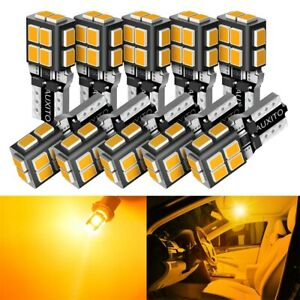 AUXITO Yellow LED Light T10 194 168 2825 Side Marker License Plate Bulbs Amber