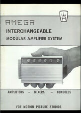 Very Rare Amega Amps Mixers Consoles For Motion Picture Studios Dealer Catalog