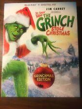 How the Grinch Stole Christmas (Blu-ray & Digital) Jim Carrey, Brand New!