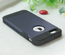 Shockproof Dirt Dust Proof Hard Soft Cover Case REAL Glass Film For iPhone 5 5S
