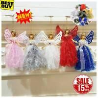 Christmas Winged Angel Doll Hanging Xmas Tree Pendants Ornaments Home Decor