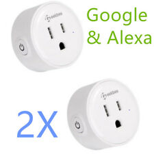 2-Pack Geekbes YM-WS-1 Smart Socket WiFi Mini Plug For Alexa and Google Home NEW