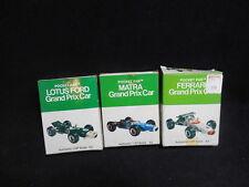 3 RARE 60s Entex Pocket Pak 1/87 Models NOS Grand Prix Matra Ferrari Lotus Ford
