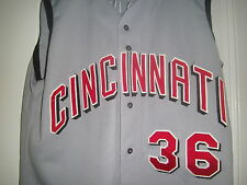 1999 GABE WHITE Cincinnati Reds Game Used Worn Road Jersey SIGNED