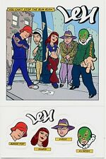Len You Can't Stop The Bum Rush RARE promo sticker sheet / postcard (6 in 1) '99