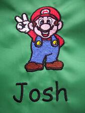 Personalised Super Mario School/PE/Gym/Baby/Drawstring Bag