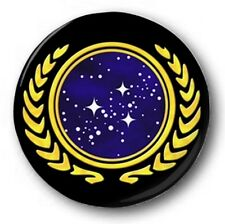 "United Federation of Planets Logo - 25mm 1"" Button Badge - Star Trek Kirk Picard"