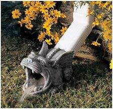 "10.5"" Outdoor Home Decor Medieval Gothic Wide Mouth Gargoyle Gutter Downspout"