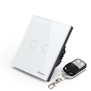 Remote Control Switch 1/2 Gang 1 Way Smart Remote Control Glass Touch Switch