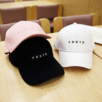 Unisex Classic Plain Baseball Cap Embroidered Youth Adjustable Sport Summer Hats