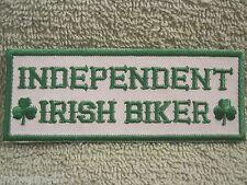 """""""INDEPENDENT IRISH BIKER"""" w/Shamrocks Patch Motorcyclist Patch Ireland"""