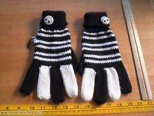 Disneyland Nightmare Before Christmas womens gloves Jack licensed used buttons