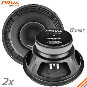 "2x PRV Audio 10FR300 Full Range 10"" Loudspeakers 8 Ohms PRO 600 Watts"