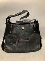 Large Matt and Nat Charcoal Gray Vegan Leather Shoulder Bag Eco-Friendly Bag
