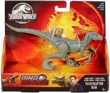 Jurassic World Savage Strike Velociraptor Blue Dinosaur Figure