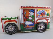 "Tin Ice Cream Truck Christmas snowman penguin Blizzard Buster 7"" X 4"" X 3"""