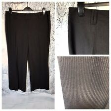 AUTONOMY Ladies Black Pinstripe Trousers Size 18L Smart Work Office Zip NWT