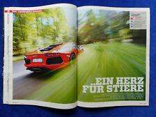 Lamborghini Aventador 700PS - Test auf 5 Seiten - Auto Motor Sport Heft 23/2011
