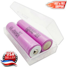 2 Samsung INR18650-30Q 3000mAh 15A Rechargeable Button Top Battery FREE Case