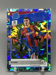 2020-21 Panini Chronicles Soccer Rated Rookie Pedri Donruss RC Cracked Ice 05/23