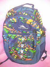 High Sierra  Backpack High Storage Capacity Yellow Red Green  Orange Dark Blue