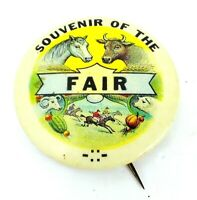 Vintage MINNESOTA STATE FAIR Pinback SOUVENIR OF THE FAIR Button PIN