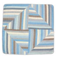 Jonathan Adler Bargello Mod Geometric Blue Gray Windmill Pattern Pillow Case