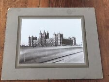 More details for early 1900s mounted photograph of glamis castle - ladies playing golf