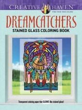 2 Book Deal Animal Spirits & Dreamcatchers Stained Glass Adult Colouring Books