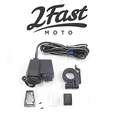 2FastMoto Handlebar Mounted Cell Phone Charger Iphone Samsung Galaxy Note Honda
