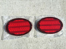 "2 NEW RV CAMPER MOTORHOME TRAILER BUS 52 LED STOP TURN TAIL LIGHT 8"" OVAL RED"