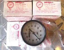 """Merrill Pressure Gauge PG100 0-100 PSI 1/4"""" MIP Sale is for Three (3) Gauges"""