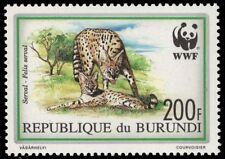 """BURUNDI 683 (Mi1760) - Serval """"Felis serval"""" WWF (pa74421)"""