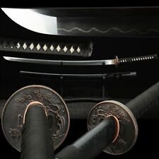 Handmade High Quality Japan Samurai Sword Katana Clay Tempered T10 Steel Sharp #